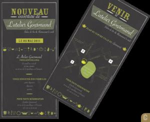 atelier gourmand flyer print impression