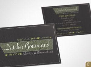 carte de visite atelier gourmand print