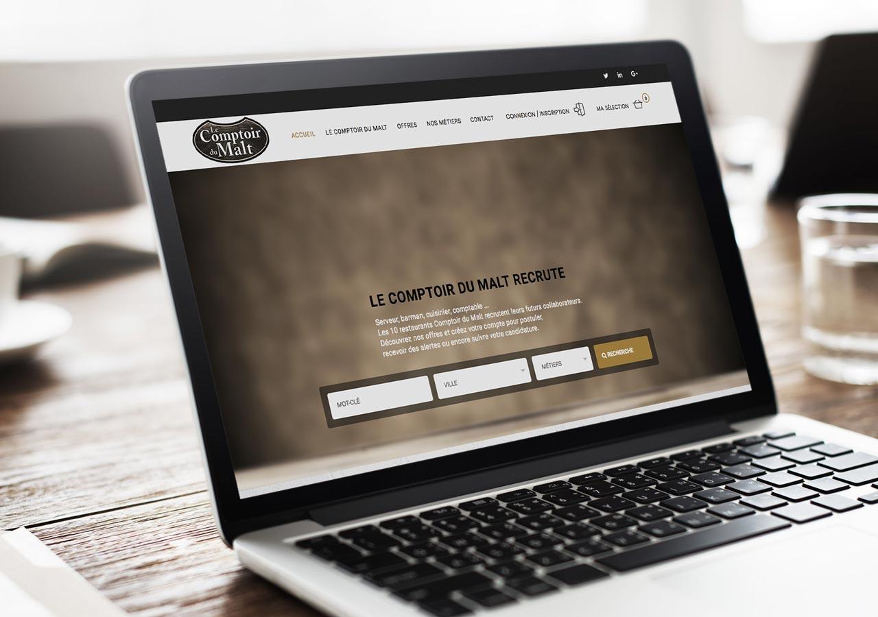 Comptoir du malt recrutement cercle carr agence de communication print web amiens - Comptoir du malte amiens ...