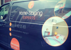 marquage vehicule Home Staging Experts Xavier Ducatelle
